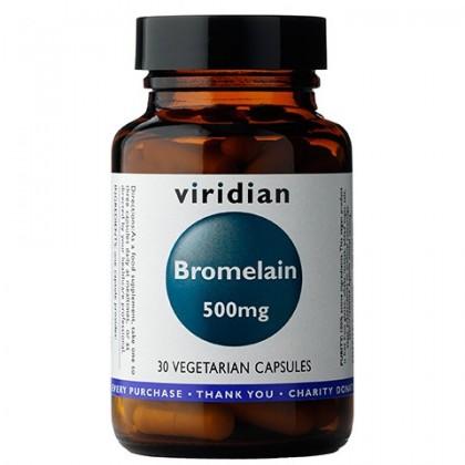 Bromelain Bromelaina 500 mg 30 kapsułek Viridian