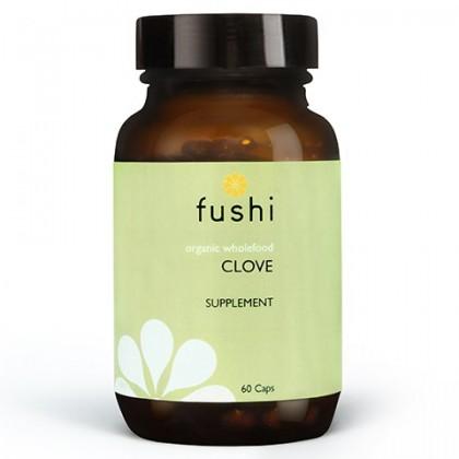Clove Ekologiczny Goździk sproszkowany BIO 60 kapsułek 500 mg Fushi
