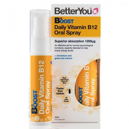 Witamina B12 Boost Pure Energy w sprayu Metylokobalamina 300 ug + Chrom 10 ug BetterYou