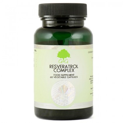 Resveratrol Complex Resweratrol Rdestowiec japoński Kwercetyna Koenzym Q10 60 kapsułek G&G