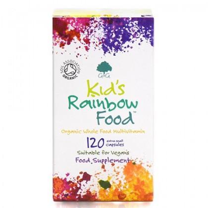 Kids Rainbow Food BIO Ekologiczna Multiwitamina z Probiotykami dla Dzieci 120 mini kapsułek G&G