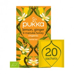 PUKKA Lemon, Ginger & Manuka Honey