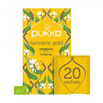 Turmeric Gold BIO Ekologiczna Herbata z Korzenia Kurkumy 20 saszetek Pukka