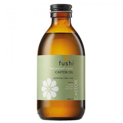 Ekologiczny Olej Rycynowy tłoczony na zimno 250ml Fushi