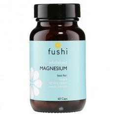 Whole Food Magnesium Magnez 62,6 mg Ziarna kakaowca Owoce daktylowca Nasiona dyni sproszkowane 60 kapsułek Fushi