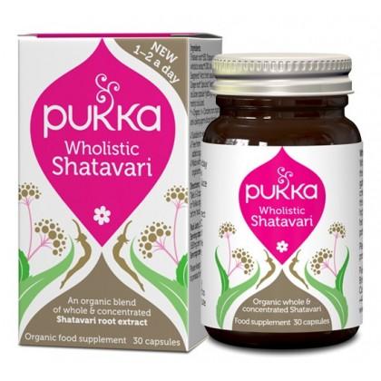 Wholistic Shatavari dla Kobiet Ekologiczny skoncentrowany korzeń 30 kapsułek Pukka