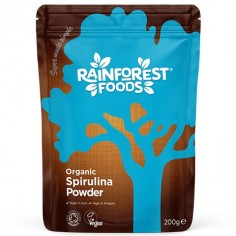 Spirulina BIO Ekologiczna 200g w proszku Rainforest Foods