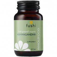 Ekologiczna Ashwagandha sproszkowana BIO 60 kapsułek 340 mg Fushi