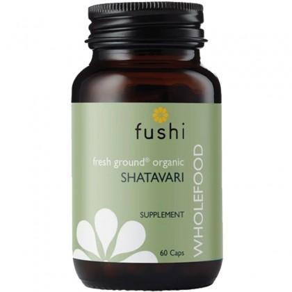 Shatavari BIO Ekologiczny Sproszkowany Korzeń Szparaga Groniastego 60 kapsułek 400 mg Fushi