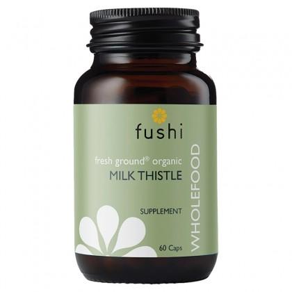 MilkThistle BIO Ekologiczny Ostropest plamisty sproszkowany 440 mg 60 kapsułek Fushi