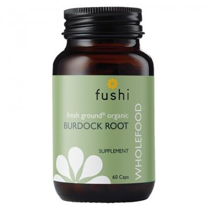 Łopian Korzeń BIO Ekologiczny Korzeń Łopianu sproszkowany 480 mg 60 kapssułek Fushi