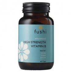 Whole Food High Strength Vitamin B Complex Naturalna Witamina B Kompleks 60 kapsułek Fushi