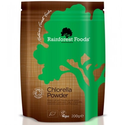 Chlorella BIO Ekologiczna 200g w proszku Rainforest Foods