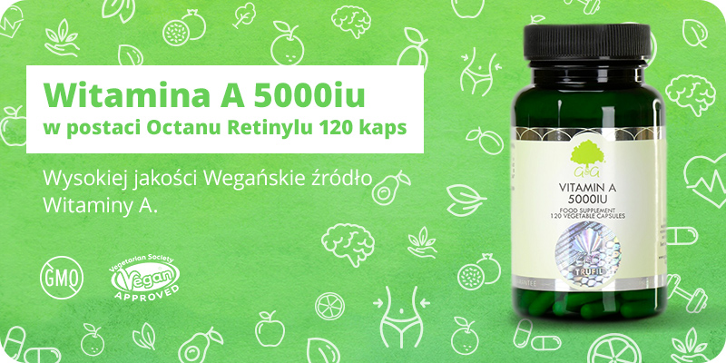 Witamina A 5000iu Octan Retinylu 120 kapsułek G&G