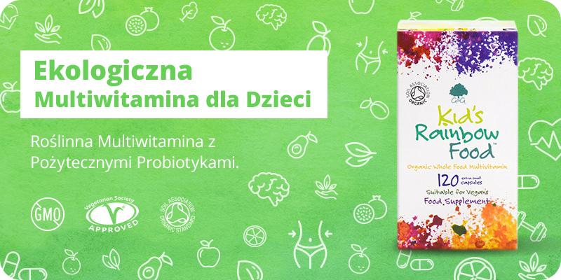 BIO Ekologiczna Multiwitamina z Probiotykami dla Dzieci 120 mini kapsułek G&G