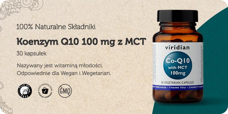 Koenzym Q10 100 mg z MCT 30 kapsułek Viridian