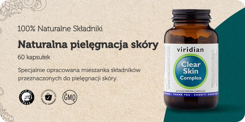 Clear Skin Complex Naturalna pielęgnacja skóry 60 kapsułek Viridian