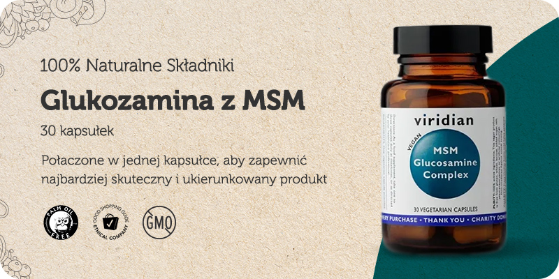 Glukozamina z MSM 30 kapsułek Viridian
