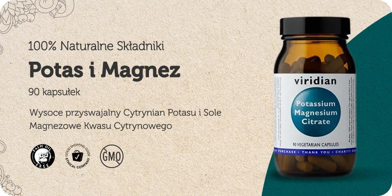 Potas i Magnez / Cytrynian Potasu i Sole Magnezowe Kwasu Cytrynowego 30 kapsułek