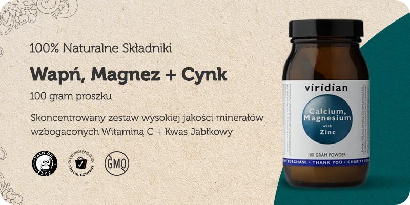 Wapń Magnez i Cynk + Witamina C + Kwas Jabłkowy 100g w proszku