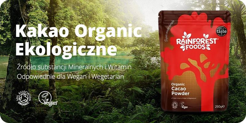 Ekologiczne Kakao BIO Sproszkowane 250 g Rainforest Foods