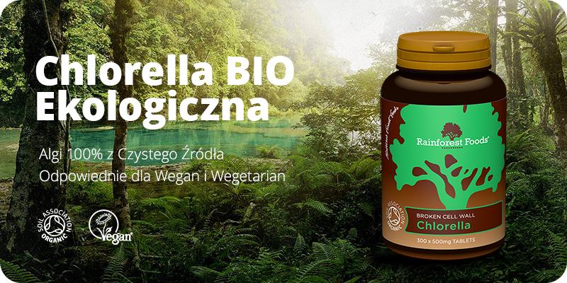 Chlorella BIO Ekologiczna 300 tabletek x 500 mg Rainforest Foods