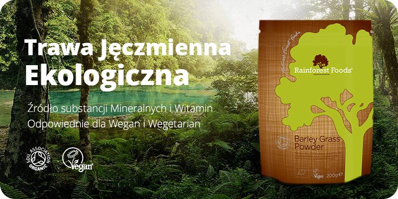 Ekologiczna Trawa Jęczmienna BIO Sproszkowana 200g Rainforest Foods